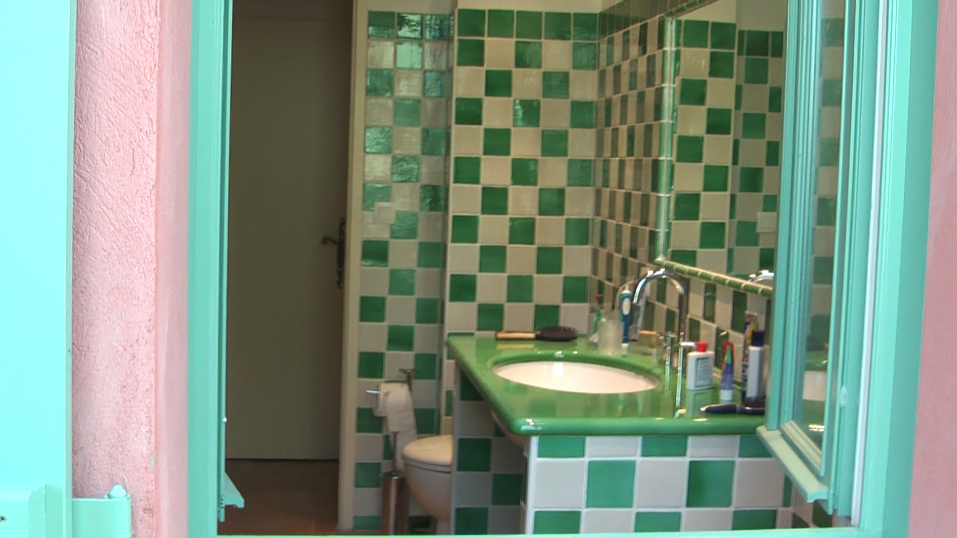 The Floors Are All Covered With Provencal Style Tiles. A Housework Room  With Washing/